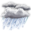 Weather Icon: Silný dážď